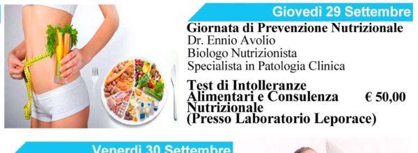 """Giornata di prevenzione Nutrizionale ed Estetica – """"Dedichiamo Tempo alla Salute ed alla Bellezza"""""""
